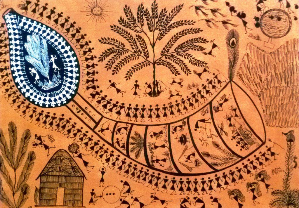 Le Tarpa  Le tarpa est un instrument de musique Adivasi très important.  Il les aide à travailler avec énergie, enthousiasme et dans l'unité.  Il rythme leurs fêtes et les saisons.