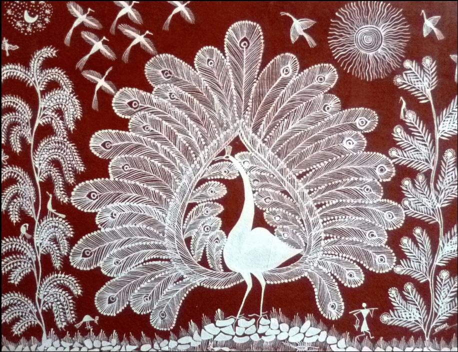 Paon blanc - Symbole de l'Inde, symbole de spiritualité.