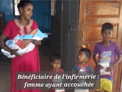 AS WARLI- infirmerie - bénéficiaire: femme après acouchement